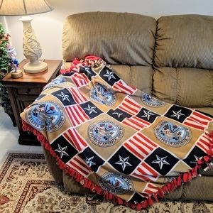 United States Department of The Army Fleece Throw